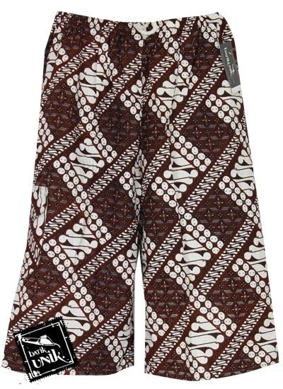 Celana 34 Motif celana pendek katun 3 4 biasa motif batik jogja klasik celana murah batikunik