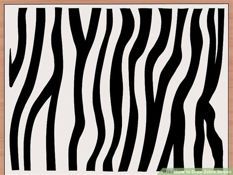 Drawing Zebra Stripes by How To Draw Zebra Stripes 14 Steps With Pictures Wikihow