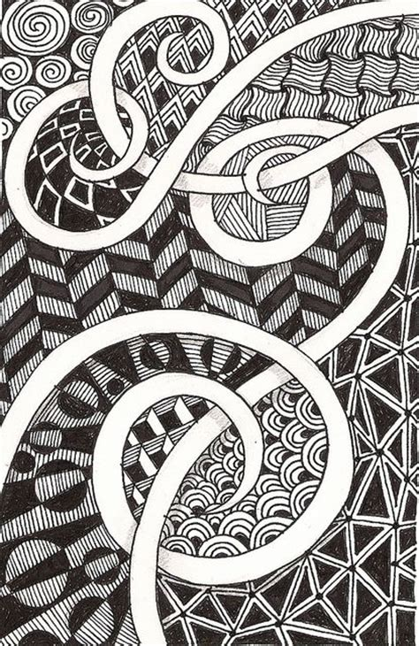 Background Zentangle | zentangle art swirly scrolls left blank hollow that