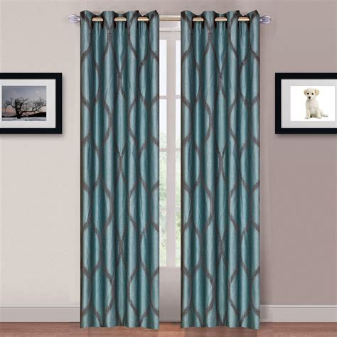 metallic curtain panels lavish home metallic grommet curtain panels 84 inch