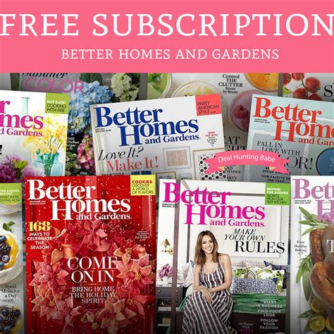 free better home and gardens magazine subscription deal hunting babe