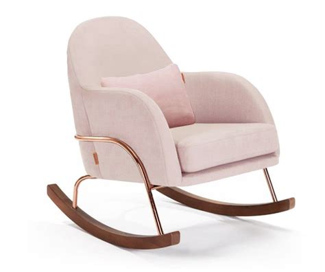 Pink Nursery Chair - blush pink rocking chair crown interiors