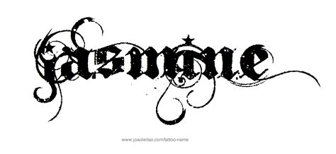 jasmine tattoo font jasmine name tattoo designs jasmine tattoo designs and
