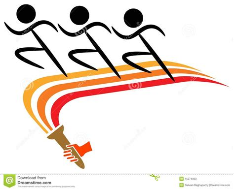 Emblem Logo Running running logo stock photos image 15274953