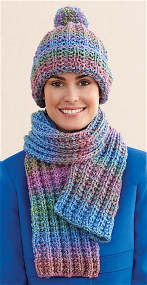ravelry rustic ribbed hat and scarf scarf pattern by