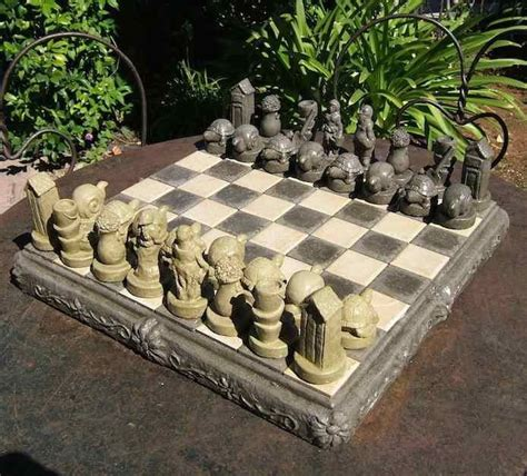 backyard chess set garden chess set gardens traditional and beautiful