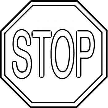 stop sign black and white clipart best