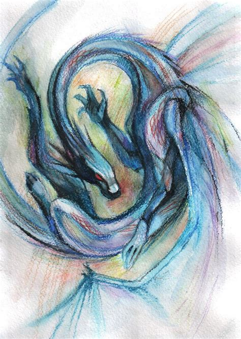 watercolor dragon by shade shypervert on deviantart