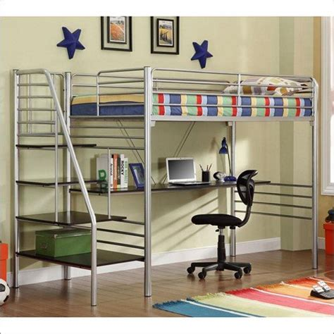 Loft Bunk Bed With Desk Underneath Metal Loft Beds With Desk Underneath