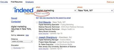 how to use indeed resume search