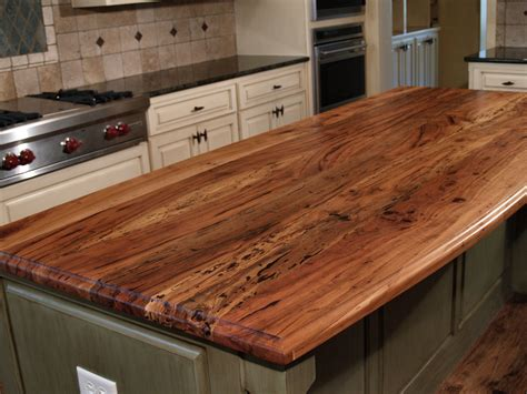 Custom Wood Bar Tops by Spalted Pecan Wood Countertop Photo Gallery By Devos
