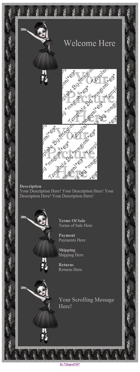 gothic ballerina ebay ola overstock ad listing template