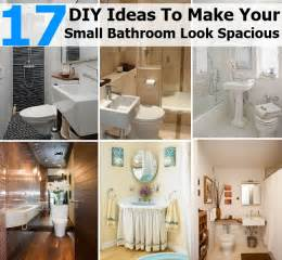Small Bathroom Ideas Diy by 17 Diy Ideas To Make Your Small Bathroom Look Spacious