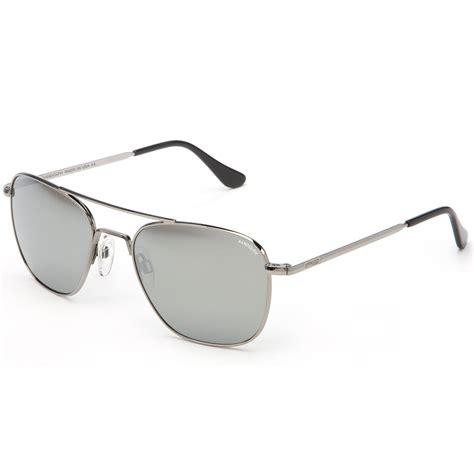 aviator with gray lens randolph aviator sunglasses gunmetal skull frame with grey