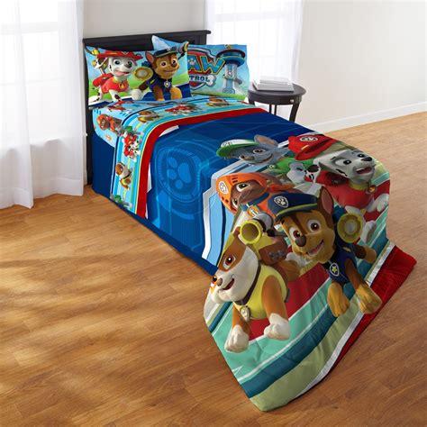 paw patrol bedding paw patrol twin comforter set set of 4 jet com
