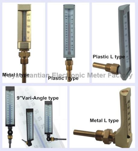 Jual Thermometer Glass v shaped glass industrial thermometer china v shaped