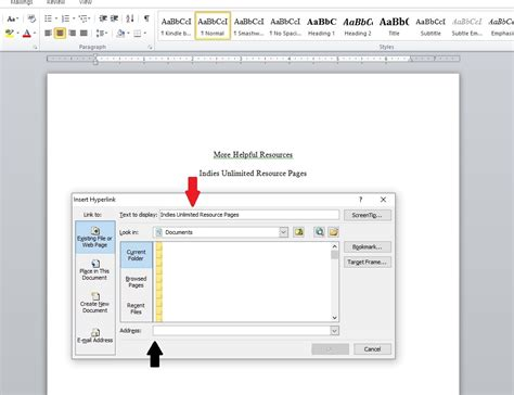 layout hyperlink word tips for formatting your book correctly in microsoft word