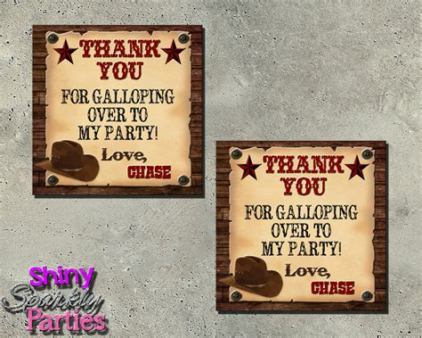 printable western party decorations cowboy theme party western favor tags cowboy party favors