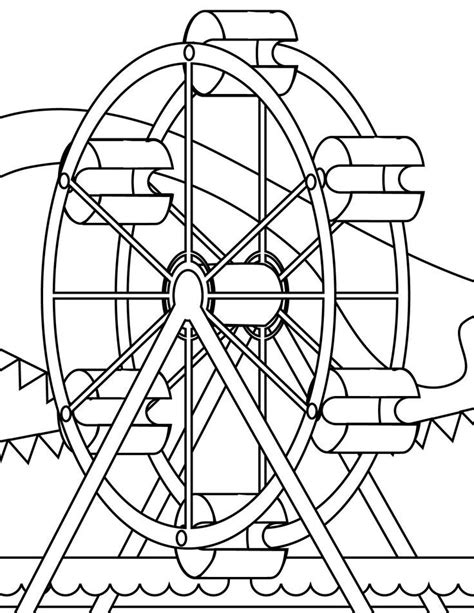 ferris wheel coloring pages az coloring pages