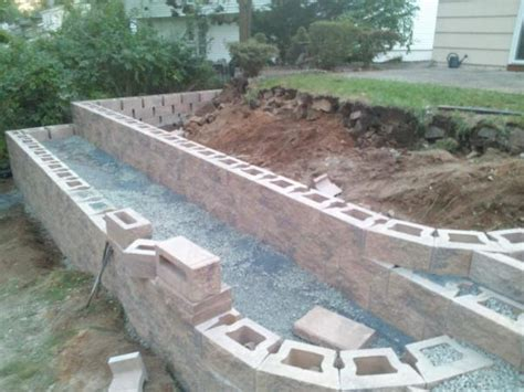 cost of building a garden wall what caused movement in new retaining wall doityourself community forums