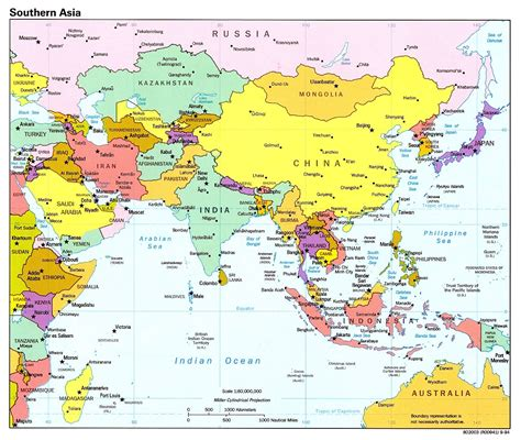 map of countries of asia printable map of asia with countries and capitals all