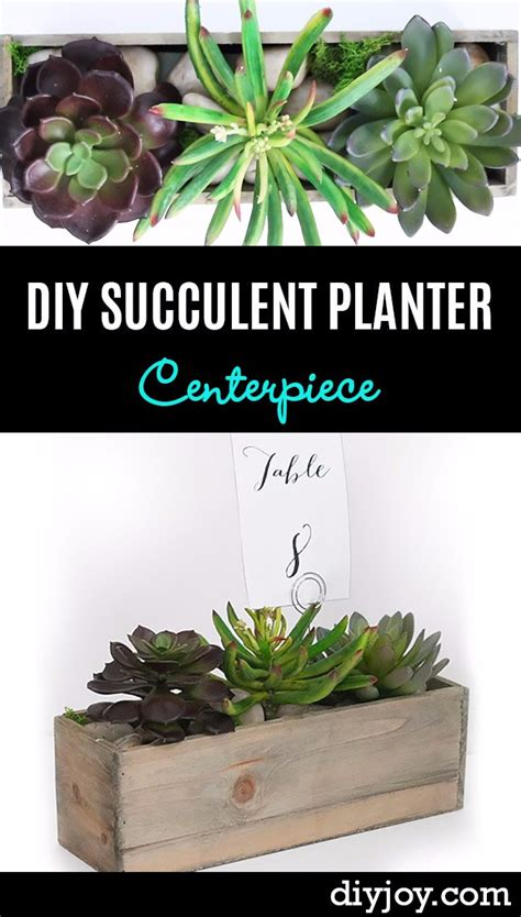 diy succulent planter 38 brilliant diy living room decor ideas