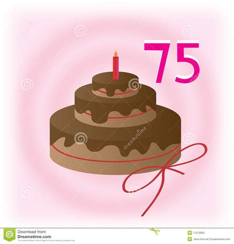 75th birthday stock vector. Image of brown, holiday, greet