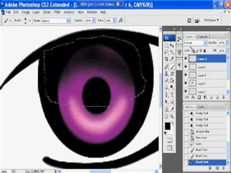 Tutorial Adobe Photoshop Cs3 Vector | anime eye tutorial vector drawing tutorial photoshop cs3