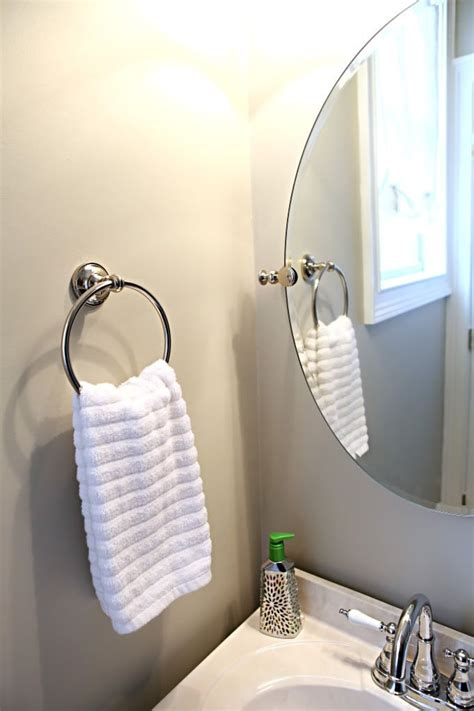 where to put hand towel in bathroom towel ring over outlet basement bathroom pinterest