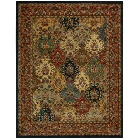 home depot rugs 8x10 nourison india house multicolor 8 ft x 10 ft 6 in area rug 121394 the home depot