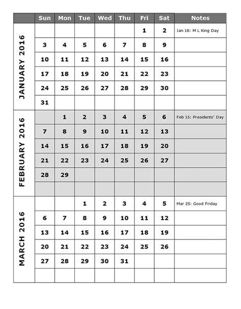 quarterly calendar template p  printable templates quarterly calendar printable
