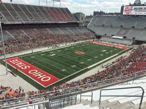 deck endzone ohio stadium football seating