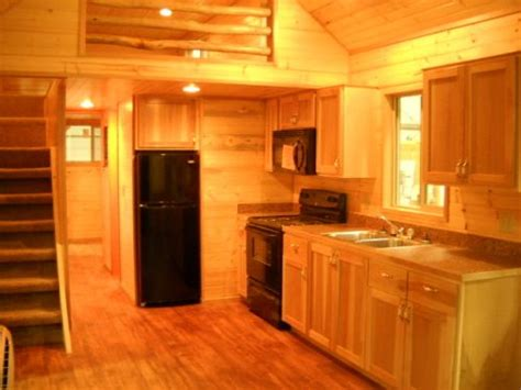 portable log cabins 16'x40' with bedroom loft   Standard