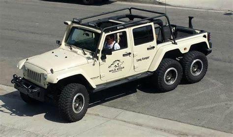 6 Wheel Jeep Jeep Wrangler 6x6 Truck Has A Hemi V8 And Guns