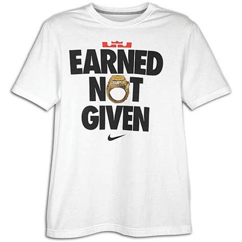 Kaos Tshirt Earned Not Given Nike nike lebron earned not given t shirt available