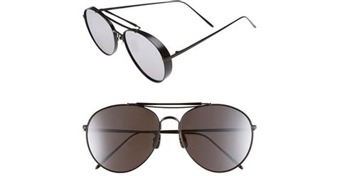 Sunglasses Gentle Hexa Aviator Tosca lyst gentle 60mm aviator sunglasses in black