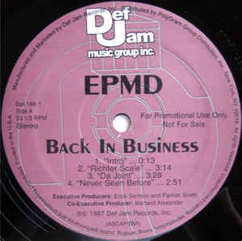 Epmd The Joint Vinyl - epmd back in business vinyl lp album at discogs