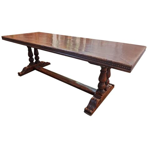 antique walnut trestle dining table for sale at 1stdibs