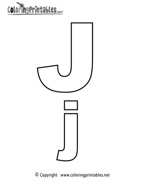 alphabet letter j coloring page a free english coloring