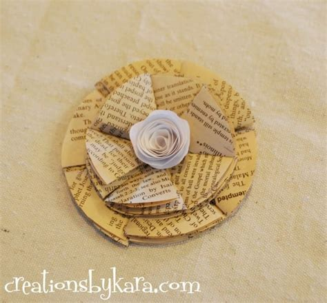 How To Make Paper Flowers From Book Pages - folded paper flowers tutorial