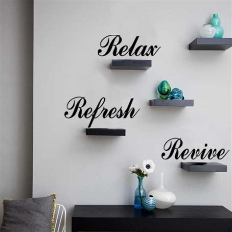 relax wall relax refresh revive quote wall decal