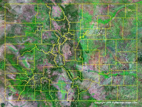 satellite map of colorado colorado county map co counties map of colorado