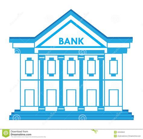 photo bank bank building icon stock vector image 40043842