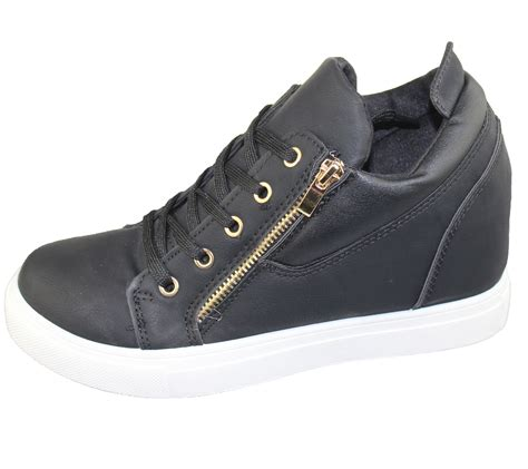 ankle sneakers womens lace up wedge trainers ankle boots sneakers
