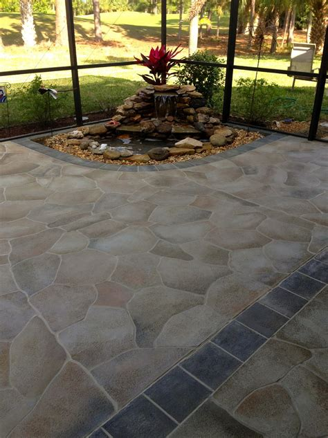 stenciled concrete patio home design ideas and pictures