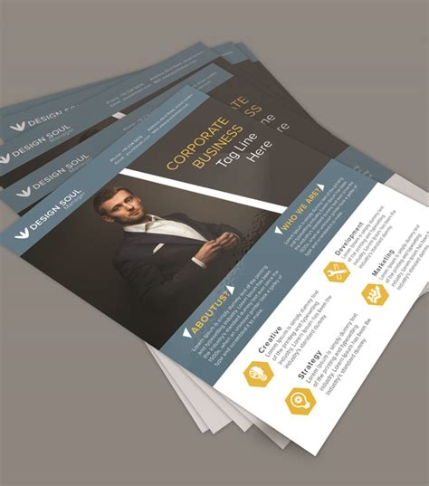photoshop business flyer templates free corporate business flyer psd template freebies
