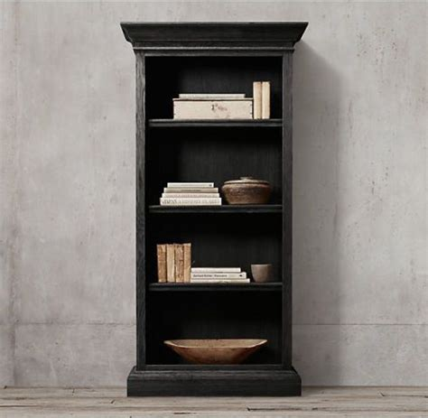 library bookcase wall unit restoration hardware restoration hardware black oak shelf bookcase bookcases