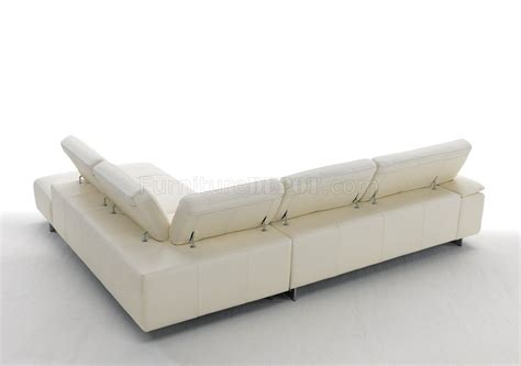 white genuine leather sofa ming 8009 sectional sofa in off white genuine italian leather