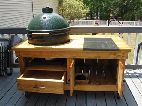 large big green egg table design ideas furnitureplans