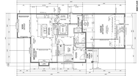 working drawing floor plan design perimeter nine